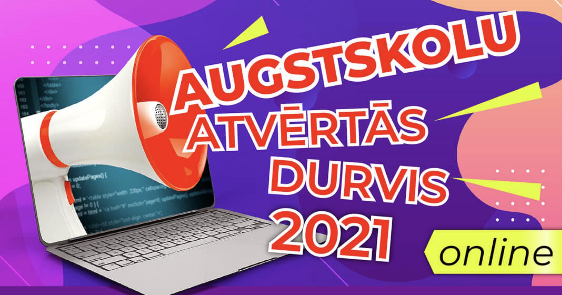 Augstskolu Atvērtās Durvis 2021 online